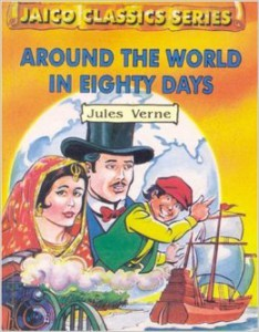 Cover photo of around the world in eighty days by Jules Verne
